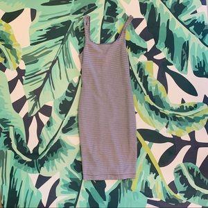 Zara Dresses - Zara blue stripe midi dress